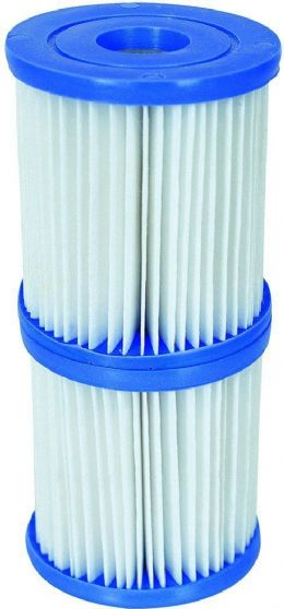 Bestway Lazy Lay Z Spa 3.1 x 3.5-inch Size I Filter Cartridge Twin Pack #58093